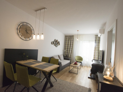 Herastrau vanzare apartament nou mobilat si utilat in complex rezidential