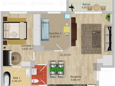 Apartament cu 3 camere,2 bai zona Vitan Barzesti