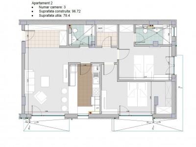 Frasari Residence vanzare apartament 3 camere