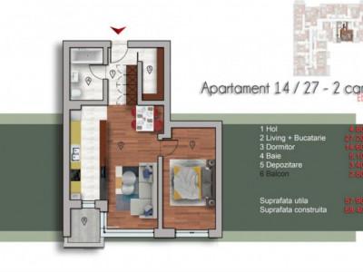 Natrom Pipera, apartamentul 2 camere